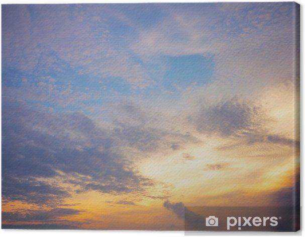 Obraz na płótnie Chmura na wieczór - Miasta azjatyckie