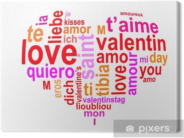 Obraz na płótnie Chmura słowo serce Valentine - Święta międzynarodowe
