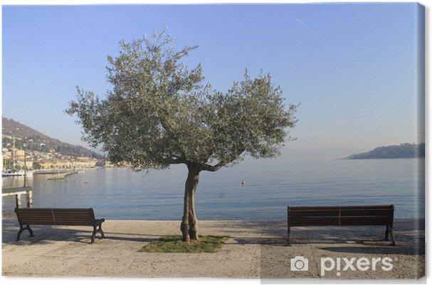 Obraz na płótnie Chodzić na brzegu jeziora Garda - Wakacje