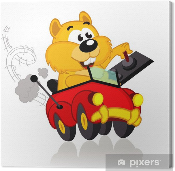 Obraz na płótnie Chomika na samochód sterowania radiowego - ilustracji wektorowych, EPS - Naklejki na ścianę