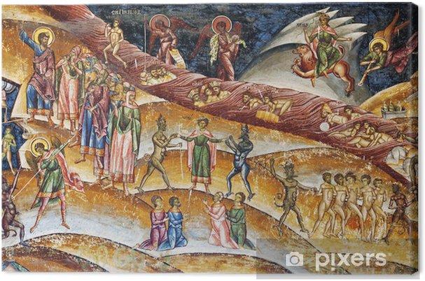 Obraz na płótnie Chrristian fresco czyściec - Budynki użyteczności publicznej