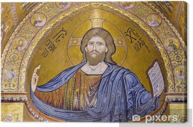 Obraz na płótnie Chrystus Pantokrator - Katedra Monreale, Sycylia, Włochy. - Religia i duchowość