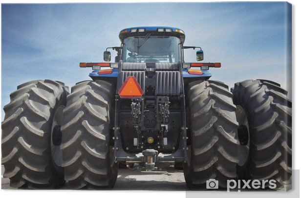 Obraz na płótnie Ciągnik rolniczy na ogromnych kołach - Tematy