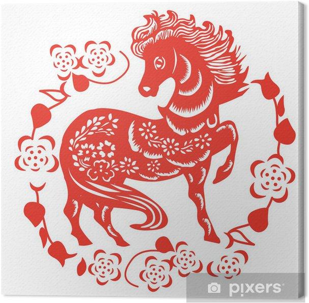 Obraz na płótnie Cięcia papieru konia - Tematy