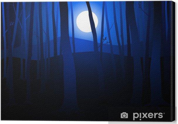 Obraz na płótnie Ciemne drewno - Szczęście