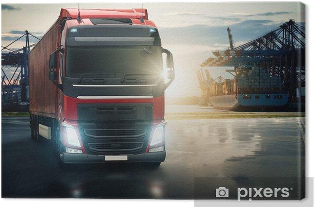 Obraz na płótnie Ciężarówka na Harbor - Przemysł ciężki