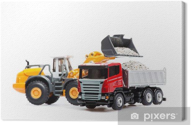 Obraz na płótnie Ciężki spychacz i ciężarowych - Przemysł ciężki