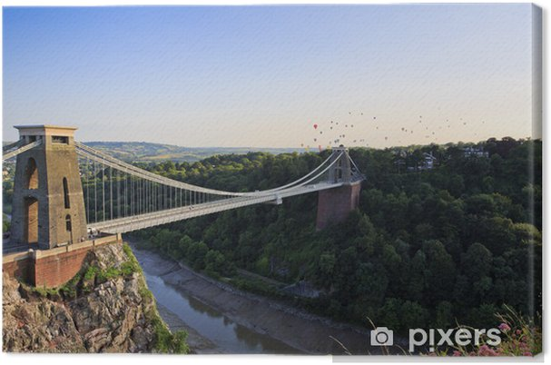 Obraz na płótnie Clifton Suspension Bridge and Balloon Fiesta - Wakacje
