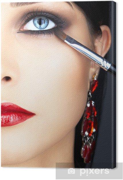 Obraz na płótnie Close-up strzał z kobieta makijaż oczu - Części ciała