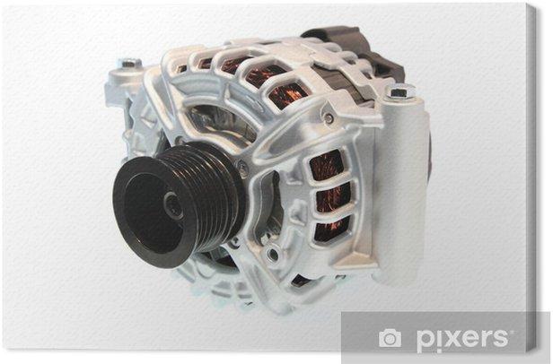 Obraz na płótnie Closeup z alternatora samochodowego, składnikiem układu elektrycznego samochodu - Narzędzia przemysłowe