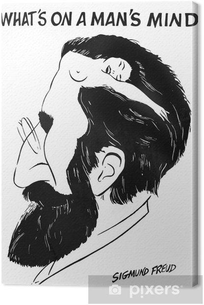 """Obraz na płótnie """"Co jest w umyśle człowieka"""" przez Zygmunta Freuda - iStaging"""