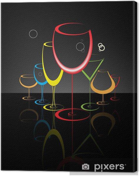 Obraz na płótnie Cocktail glass abstrakcyjna ilustracji - Do restauracji