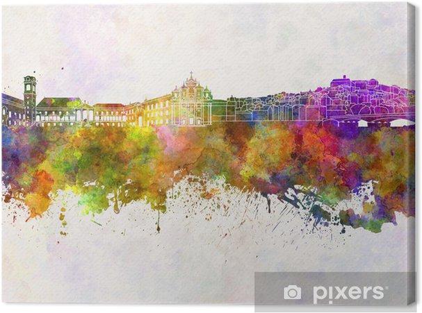 Obraz na płótnie Coimbra skyline w tle akwarela - Europa