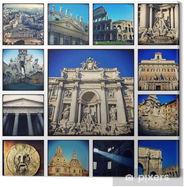 Obraz na płótnie Collage - Rzym - Miasta europejskie