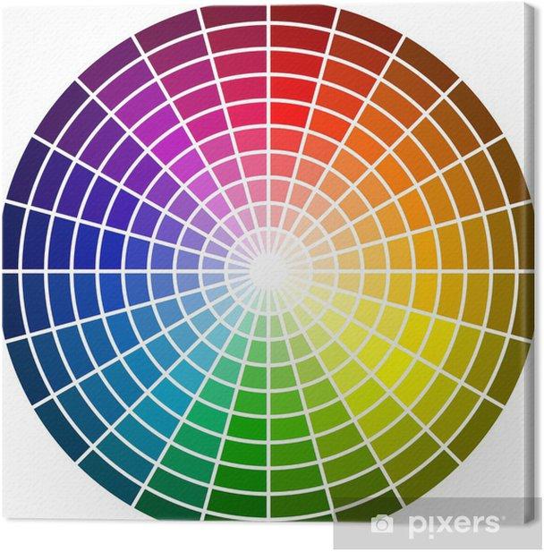 Obraz na płótnie Color_wheel_dark - Abstrakcja