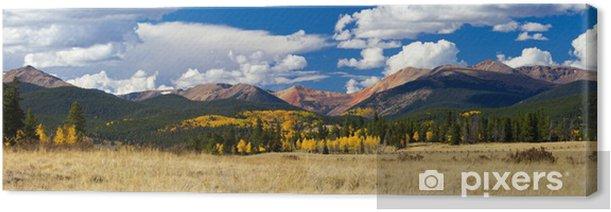 Obraz na płótnie Colorado Rocky Mountain Spadek Panoramiczny Krajobraz - Cuda natury