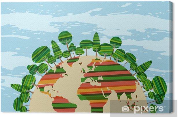 Obraz na płótnie Colorfu zielony świat - Ekologia