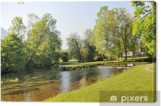 Obraz na płótnie Creek w Allgäu - Sporty na świeżym powietrzu