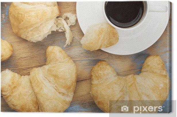 Obraz na płótnie Croissant i kawa - Ryż