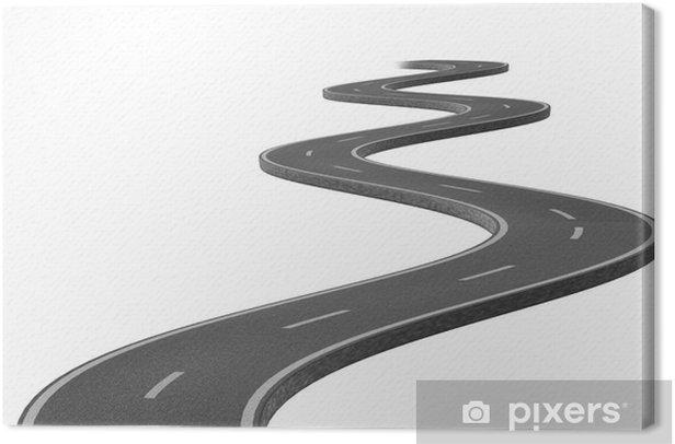 Obraz na płótnie Curved kręta droga asfaltowa - Transport drogowy