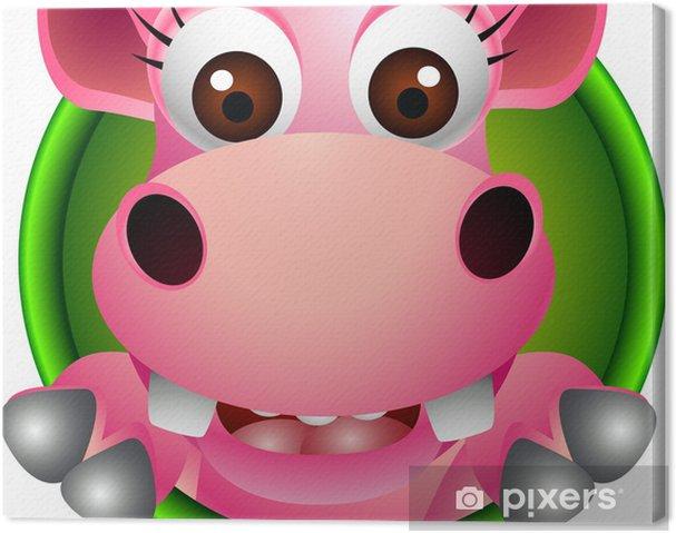 Obraz na płótnie Cute baby hippo cartoon głowa - Ssaki