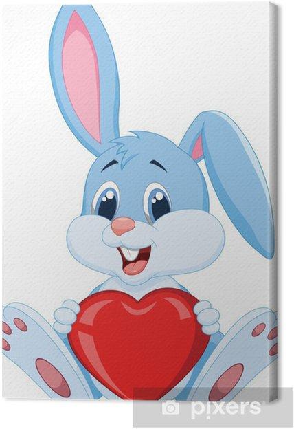 Obraz na płótnie Cute królików gospodarstwa czerwony kapelusz - Ssaki