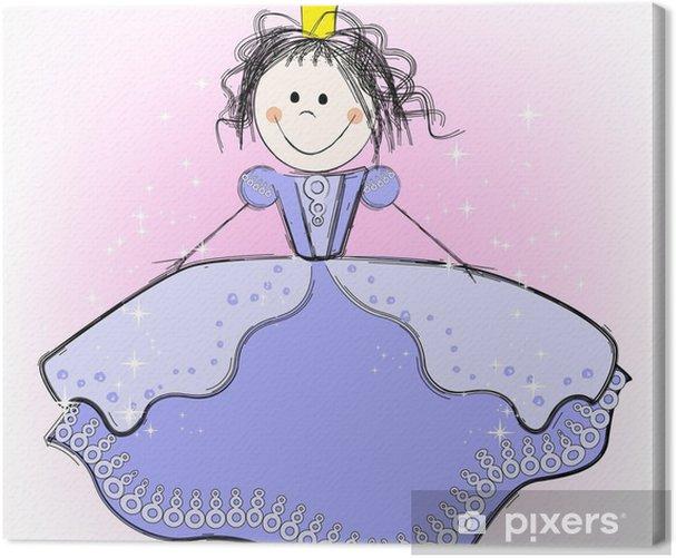 Obraz na płótnie Cute princess - Szczęście