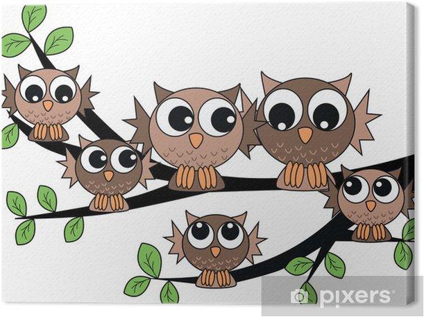 Obraz na płótnie Cute rodziny owl - Tematy