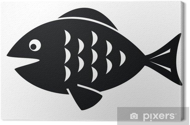 Obraz na płótnie Czarna ryba - Sprzedaż