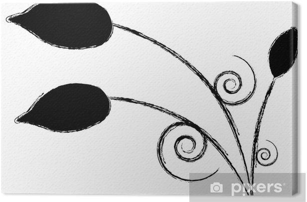 Obraz na płótnie Czarne kwiaty - Kwiaty