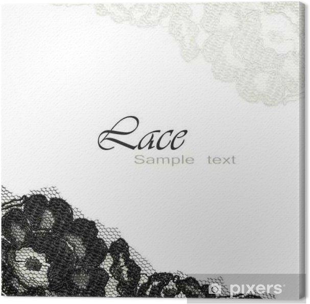 Obraz na płótnie Czarnej koronki na białym tle - Kartki z życzeniami