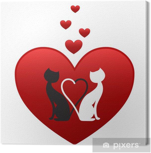 Obraz na płótnie Czarno-białe koty - Święta międzynarodowe
