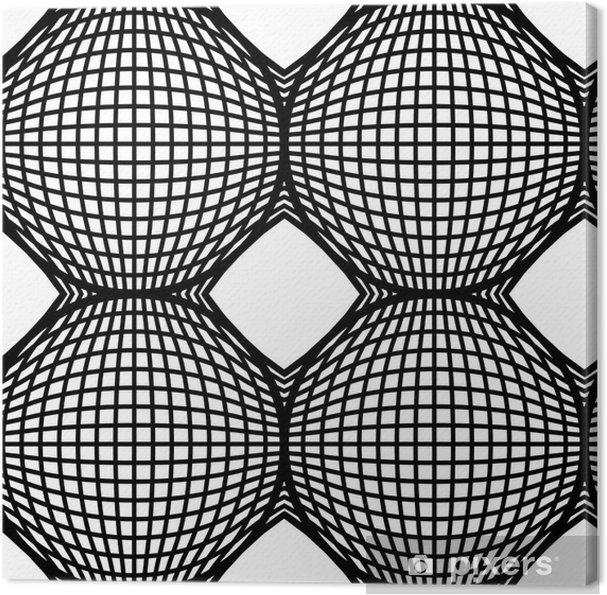 Obraz na płótnie Czarno-białe op art design wektor powtarzalny tła - Tła