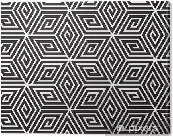 Obraz na płótnie Czarno-biały Op Art Design, wektor szwu Backgroun - Tła