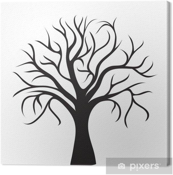 Obraz na płótnie Czarny drzewo bez liści - Naklejki na ścianę