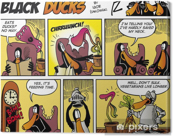 Obraz na płótnie Czarny Ducks Comics episode 75 - Ptaki
