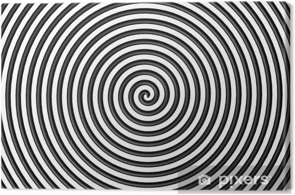 Obraz na płótnie Czarny i biały okrąg hipnotyczne - Tematy