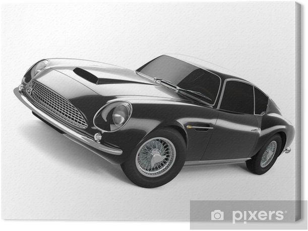 Obraz na płótnie Czarny klasyczny samochód sportowy - Transport drogowy