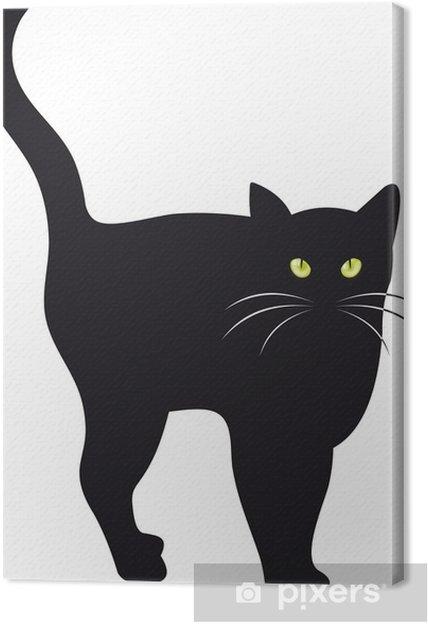 Obraz na płótnie Czarny kot wektor - Sztuka i twórczość