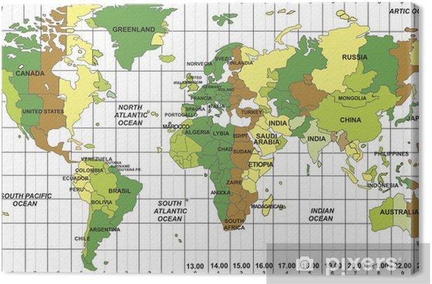 Obraz na płótnie Czas światowy - Tematy