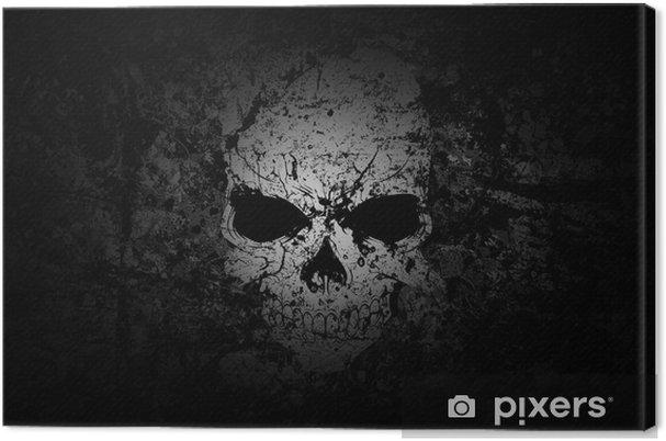 Obraz na płótnie Czaszka ciemnym tle grunge - iStaging