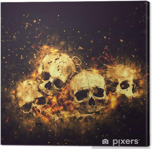 Obraz na płótnie Czaszki i kości - Święta międzynarodowe
