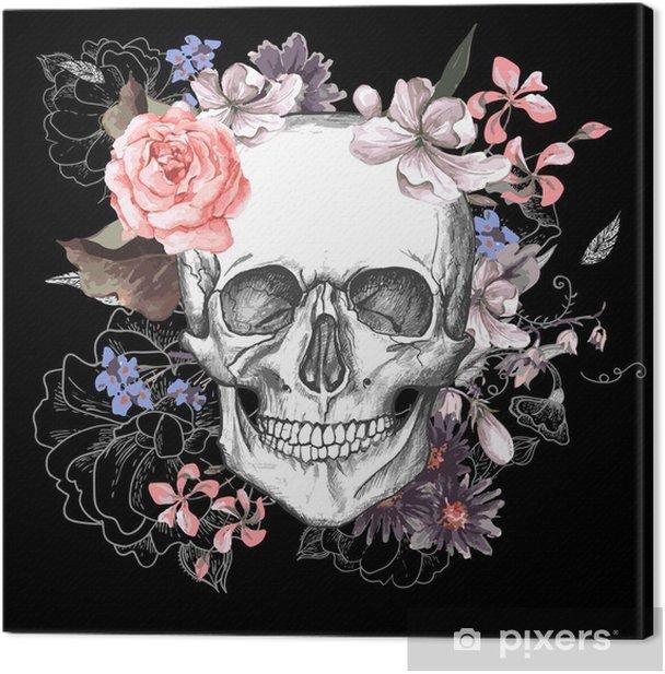 Obraz na płótnie Czaszki i kwiaty dzień żyje - Koncepcja