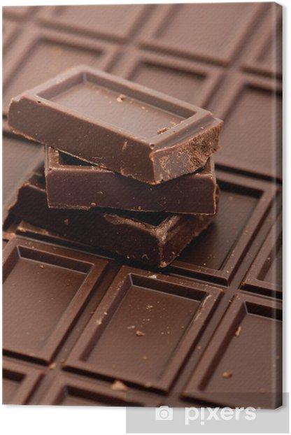 Obraz na płótnie Czekoladowe sztuk na białym - Słodycze i desery
