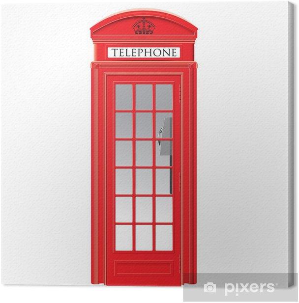 Obraz na płótnie Czerwona budka telefoniczna - londyn - wektor - Miasta europejskie