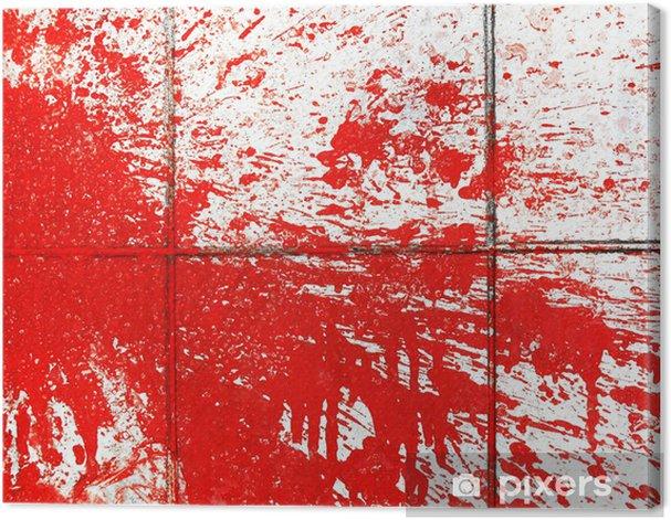 Obraz na płótnie Czerwona farba powitalny na płytki - Sztuka i twórczość