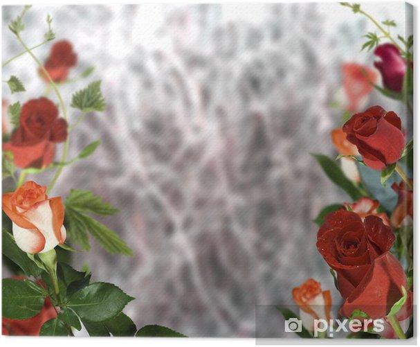 Obraz na płótnie Czerwona róża - Tła