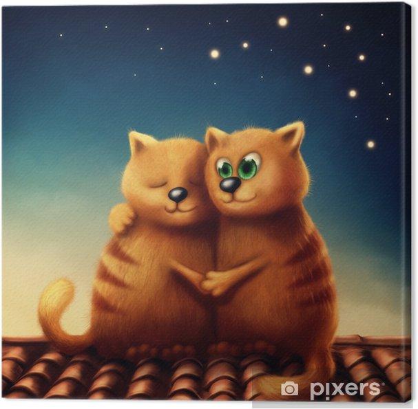 Obraz na płótnie Czerwone koty w miłości - Zwierzęta