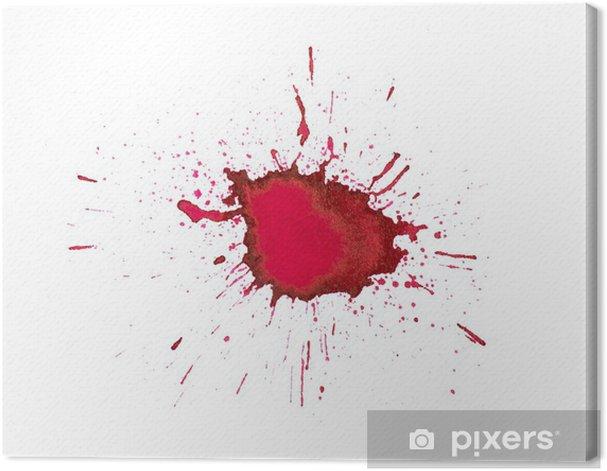 Obraz na płótnie Czerwone rozpryskuje farby - Sztuka i twórczość