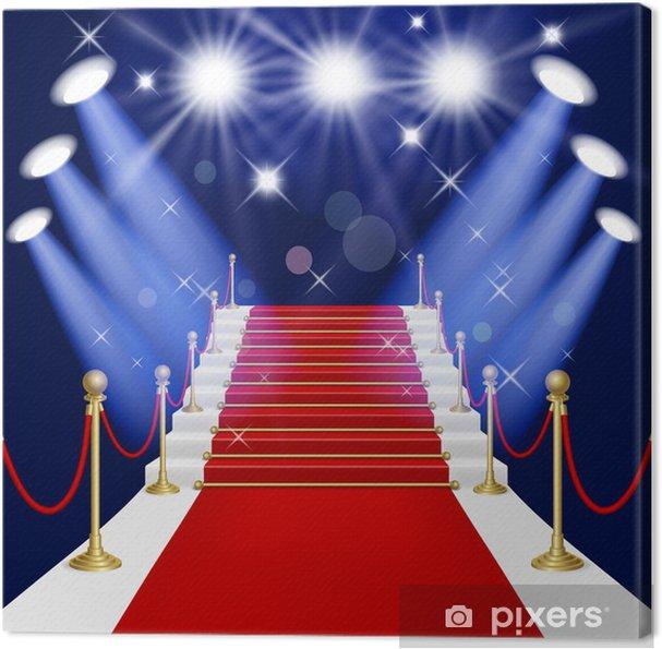 Obraz na płótnie Czerwony dywan z drabiną - Tła